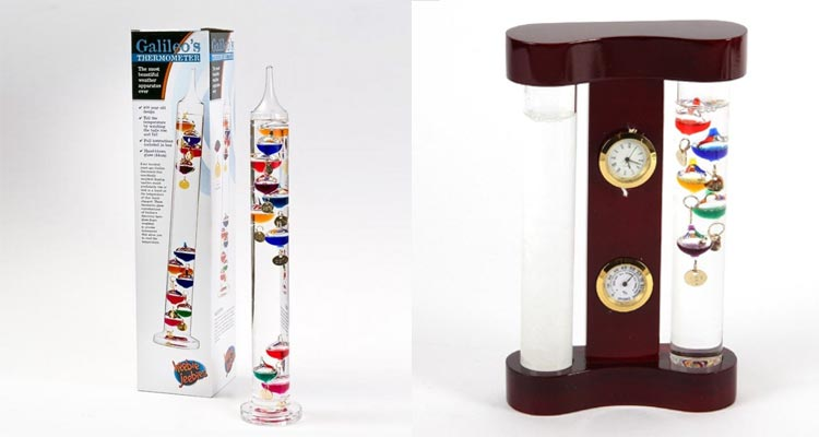 Galileo Thermometer and Storm Glass: The Aged Beauties
