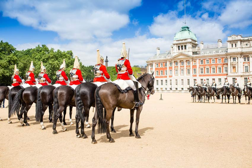 Changing Of The Guards At Horse Guards
